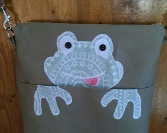 Handbag, Cross Body Bag, Frog Purse, Shoulder Bag, Purse, Everyday Purse, Frog Shoulder Bag, Frog Handbag, Character Purse
