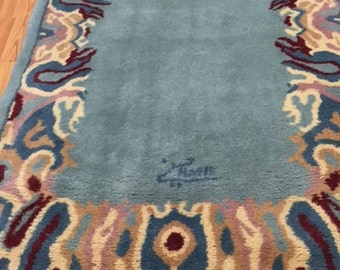 "2'8"" x 4'1"" Persian Kerman Oriental Rug - Hand Made - 100% Wool - Modern"
