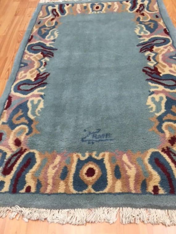 "2'8"" x 4'1"" Persian Kerman Oriental Rug - Hand Made - 100% Wool - Modern"