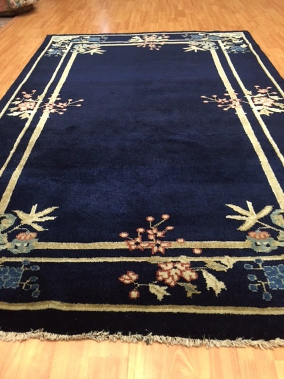 "3'9"" x 5'11"" Chinese Art Deco Oriental Rug - Hand Made - 100% Wool"