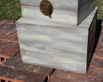 Custom Card Box/ Vintage Card Box/ Card Box/ Wedding Card Holder/ Vintage Box/ Personalized Card Box/ Wedding Box/ Shabby Chic Card Box