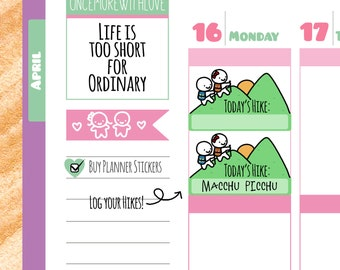 Munchkins - Hiking Time Planner Stickers (M17)