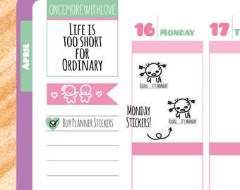 Munchkins - F*** It's Monday Planner Stickers (M93)