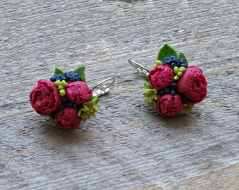 Gift ideas for her Gift|for|women Gift jewelry Gift earrings Small flowers earrings Floral jewelry Bridesmaid earring Garden jewelry flower