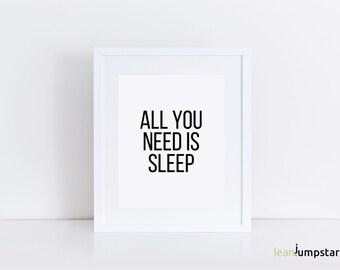 Sleep Quotes, Dorm Wall Art, Dorm Room Decor, Dorm Decor, Bedroom Posters, Bedroom Wall Art, Zen Wall Art, Relax Sign, Relaxation Gift, Art