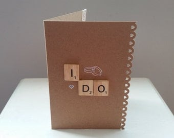 I Do Wedding / Engagement Scrabble Card