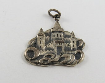 Old Castle Sterling Silver Charm or Pendant by JTT  U.S.A.