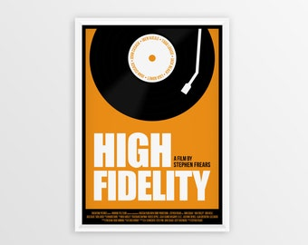 Printable High Fidelity Film Poster // John Cusack // Digital File Download // A2