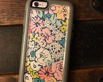 OtterBox MySymmetry Series iPhone 6/6s Cell Phone Case Single Insert {Bloom}