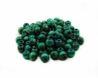 9mm Green Wooden Beads, Green Wooden Beads, Wooden Beads, Green Beads, 9mm Wood Beads, Green Wood Beads, Jewelry Making, DIY Craft Supplies