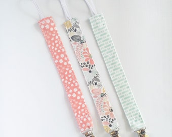 Pacifier Clip Girl - Pacifier Holder - Paci Clip - Paci Holder - Binky Clip - Binky Holder - Baby Gift - Baby Shower Gift - Baby Girl- Baby