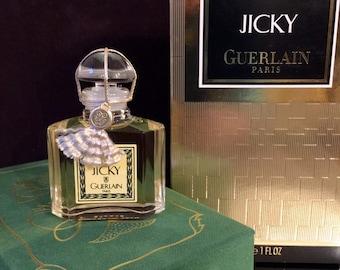 Jicky Perfume sealed Guerlain 1 oz vintage 1980s rare cord intact