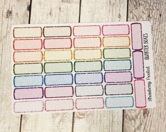 Glitter Quarter Boxes-----Mid-Tones-----  Made to fit Vertical or Horizontal