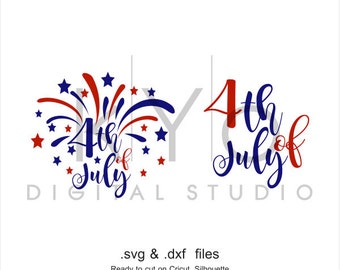 4th of July Fireworks svg Fourth of July svg Independence Day Patriotic SVG files for Cricut Explore Silhouette Cameo Brother Scan N Cut