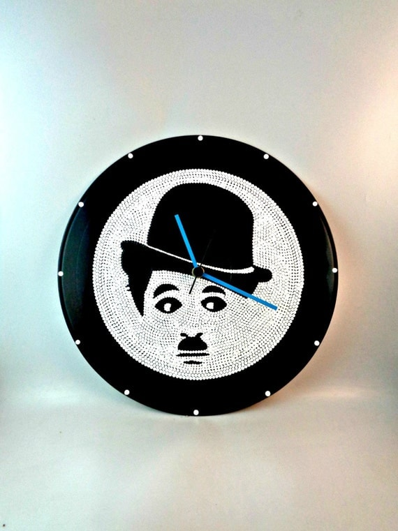 Charlie Chaplin Wall Clock The Trump Portrait Vinyl Clock