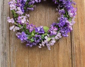 Spring Wreath, Lilac Wreath, Purple Wreath, Floral Wreath, Summer Wreath, Lilac, Front Door Wreath, Front Door Decor, Door Hanger, Purple
