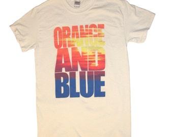 Denver Broncos - Shirt - Broncos Orange and Blue Rocky Mountain Sunset