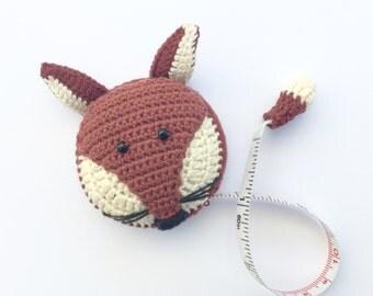 Fox Tape Measure, Lantern Moon Tape Measure, Retractable Tape Measure, Cotton Crochet Tape Measure, Knitting Tool, Crochet Tool, Sewing Tool
