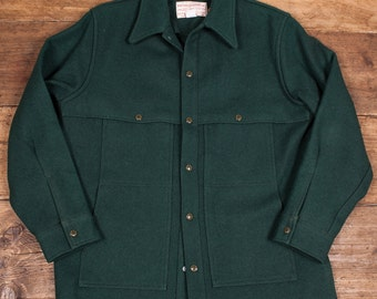 "Deadstock Mens Vintage 1970's Filson Macinaw Cruiser Wool CPO Shirt Jacket Coat. Mens Large. 46-48"" HW35"