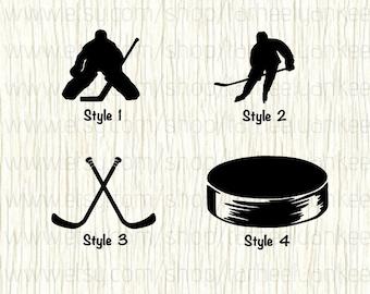 Ice Hockey Car Decal,Ice Hockey Decal,Goalie Decal, Ice Hockey Goalie,Hockey Stick Decal,Hockey Puck Decal,Defenseman Decal,Winger Decal