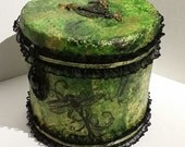 Dragonfly Green and Black Coin Bank