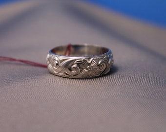 Filigree Pattern Silver Ring
