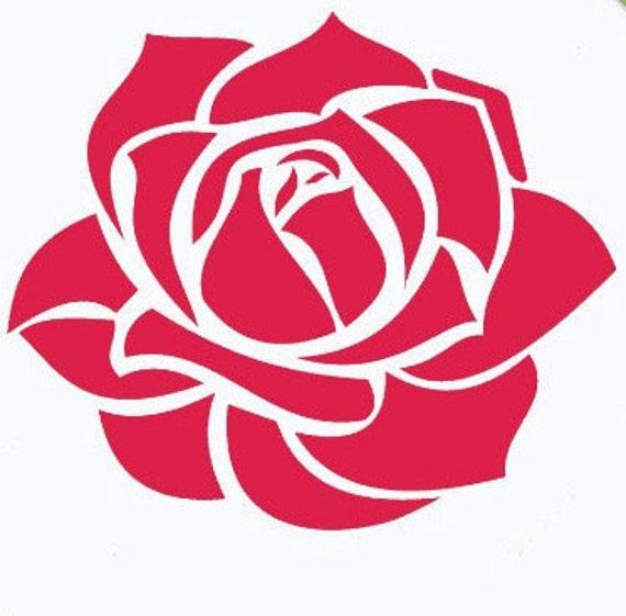 30 Rose Vinyl Stickers Flower Rose Decal By Customdecalsonline