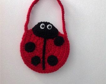 Child's Crocheted Ladybug Purse