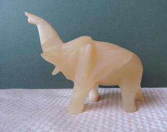 Elephant with Trunk Up Vintage
