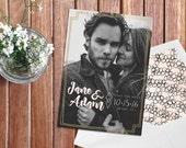 Custom Photo Save The Date Card / Customizable Wedding Stationery / Printable / Digital Download / DIY Wedding / Bridal / Engagement Photo