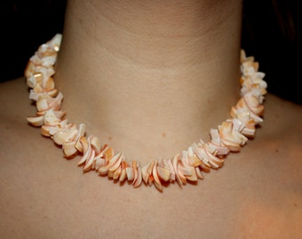 Peachy Puka Shell Necklace