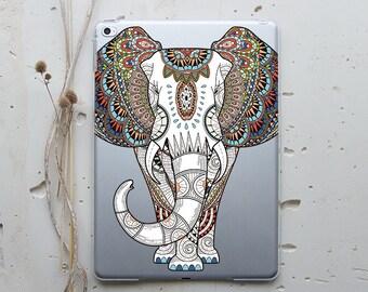 iPad Case iPad 2 Cover iPad Air Case iPad Mini 3 Case iPad Pro Cover Clear Case iPad 4 Case iPad Air 2 Case iPad Mini Mandala Elephant i001