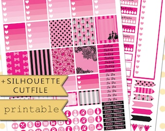 Couture Printable Planner Stickers for use with Erin Condren Life Planner /Planner Sticker Set/Fashion weekly planner kit