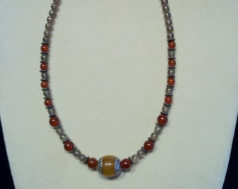 1 Antique Glass Beaded Necklace
