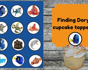 Finding dory Cupcake Toppers printable