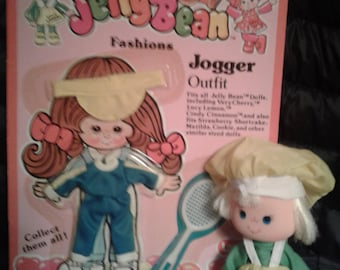 Vintage 1982 Lanard JELLY BEAN Lucy Lemon Doll with Jelly Beans JOGGER Outfit Mint on the Card!!!