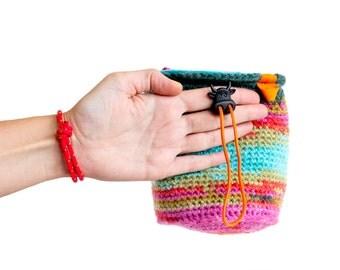 Rock Climbing Bag. Crochet Chalk Bag Gifts for Climbers. Bouldering Bag M Size