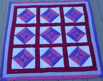 Modern Geometric Block Baby Quilt