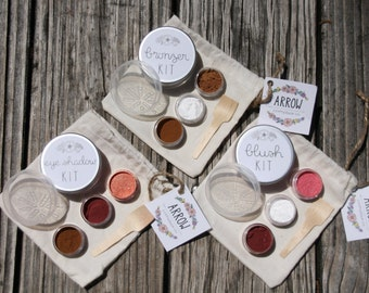 Fresh Face Set- DIY, Organic Bronzer, Eyeshadow, and Blush Kits