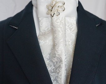 The Timeless Show White Stock Tie by Equestrian Lounge