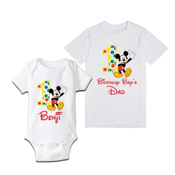 Birthday Outfit For Mom: Mickey Mouse Birthday Shirt Mom And Son Or By SayBabyApparel