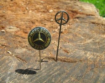 2  vintage Mercedes Pin