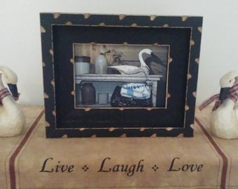 Rustic Stacked Picture Frame, Distressed Picture Frame