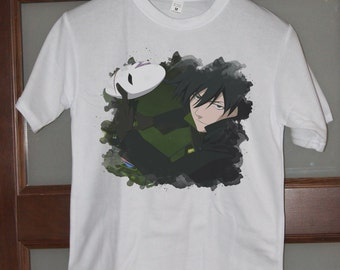 Darker Than Black Anime Shirt Hei Contractor Mens Shirts Womens Tee Shirts Anime Gifts Manga Shirt Christmas Gifts Birthday Otaku