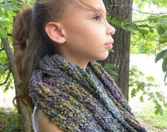Knit Infinity Scarf- Cool Spring