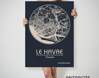 LE HAVRE France map Le Havre art, Le Havre print, Le Havre, Le Havre map, Le Havre France, Le Havre wall art, Le Havre city map, Le Havre