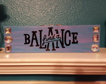 Find a Balance wood block