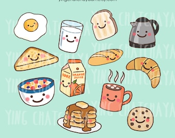 Breakfast Clipart Etsy FR