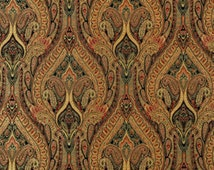 Beautiful Paisley Curtains to Pop your Room - Black, Gold, and Red - Waverly Curtains
