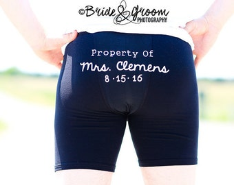 Property of Wedding Undergarment Iron On Decal for Mens Wedding Underwear, Wedding Boxer Briefs, Husband Underwear, Groom Boxer, Personalise